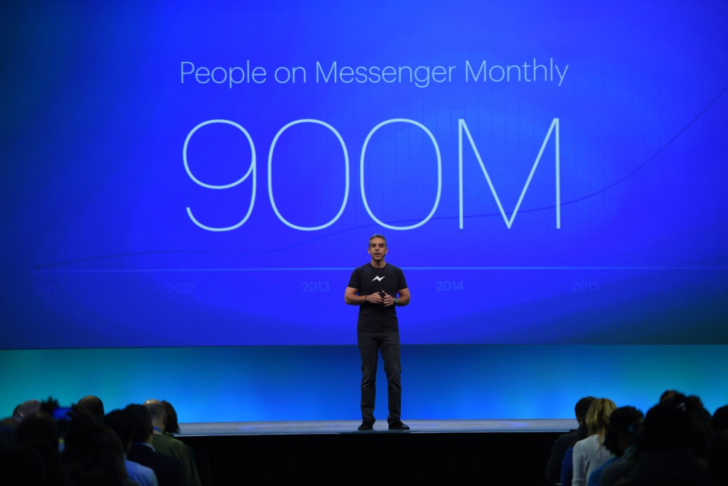 900 Millones de Usuarios utilizando Facebook Messenger / Foto: http://newsroom.fb.com