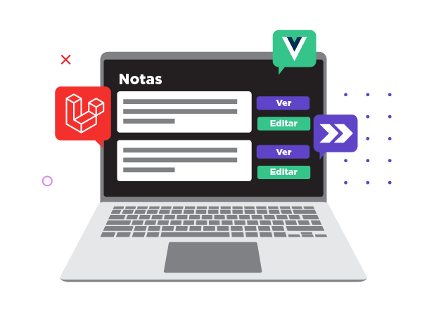 Aplicación de notas en una sola página (Single-Page Application)
