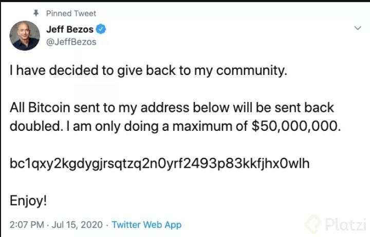 Tweet de Jeff Bezos