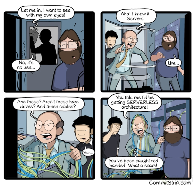 CommitStrip Serverless
